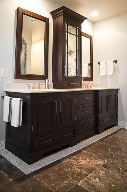 traditional bathroom by cke interior design llc