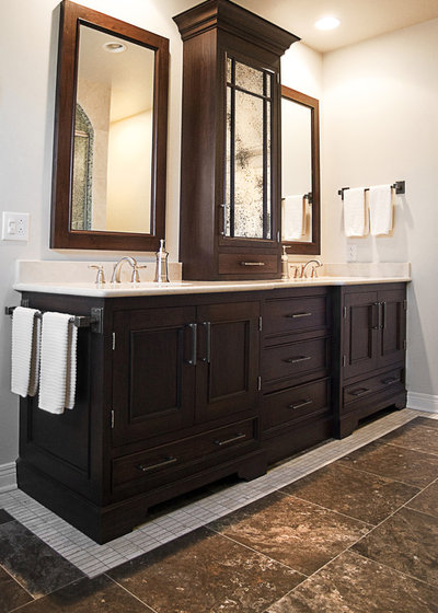 bathroom counter storage tower. Traditional Bathroom by cke interior design llc Vanity Towers Take Storage to New Heights