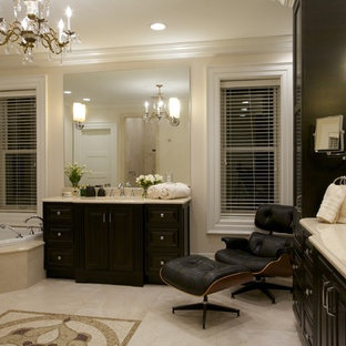 Example of a classic bathroom design in St Louis with an undermount sink