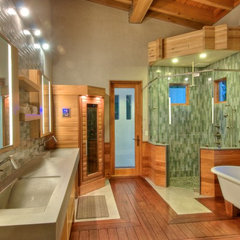 modern bathroom by josh wynne construction