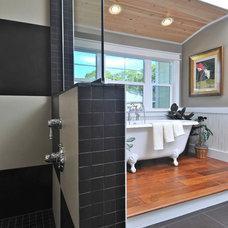 Eclectic Bathroom by josh wynne construction