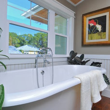 Eclectic Bathroom by josh wynne construction