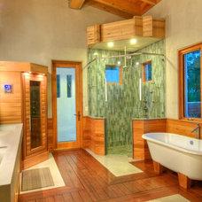 Modern Bathroom by josh wynne construction