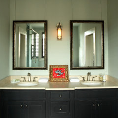 contemporary bathroom by JR McDowell Homes