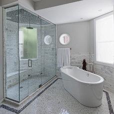 Eclectic Bathroom by Buckingham Interiors + Design LLC