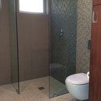 Lake forest park renovation midcentury bathroom - Bathroom renovation order of trades ...
