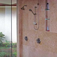 Tropical Bathroom by Daniel Moran Architect