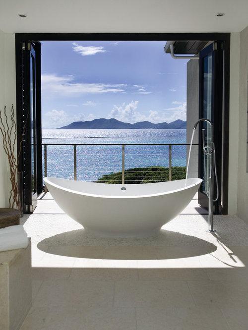 Foton och badrumsinspiration för exotiska en-suite badrum, med ett ...
