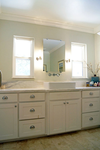 Transitional Bathroom by Kara Weik