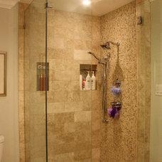 Transitional Bathroom by Kara Weik