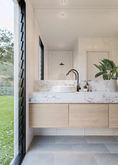 Contemporary Bathroom by Howes & Homes Designs