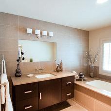 Contemporary Bathroom by Karen Kalicka / MAX Interiors