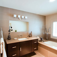 contemporary bathroom by Karen Kalicka / MAX Interiors