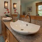 Traditional bathroom for Karen linder interior designs