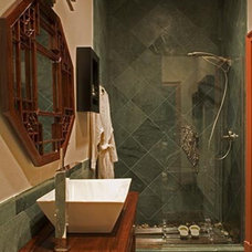 Traditional Bathroom by Karen Luria Interior Identity Inc.