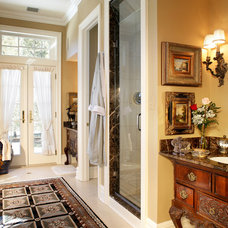 Traditional Bathroom by KARLA TRINCANELLO-CID - INTERIOR DECISIONS, INC.