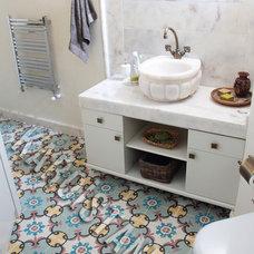 Eclectic Bathroom by Karoistanbul Encaustic Cement Tile