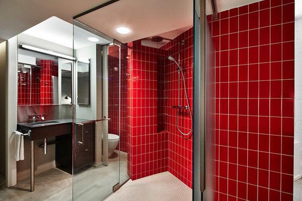 Piastrelle rosse per il bagno stili per capire i segreti di un