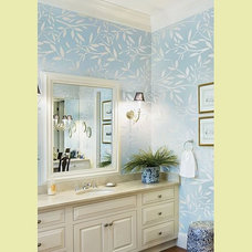 Contemporary Bathroom by Janna Makaeva/Cutting Edge Stencils