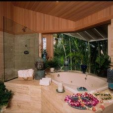 Tropical Bathroom by Jim Weinberg Lifestyles