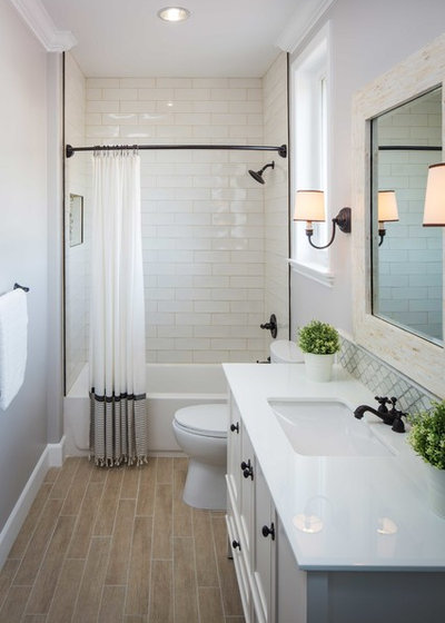 Transitional Bathroom by All About Home & Co.