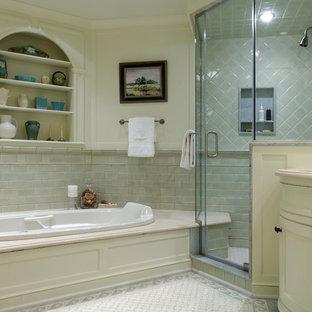 Elegant mosaic tile bathroom photo in Newark