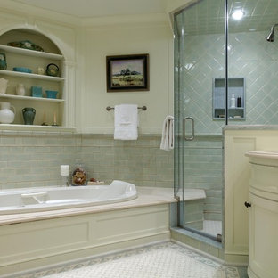 Inspiration for a classic bathroom in Newark with mosaic tiles.