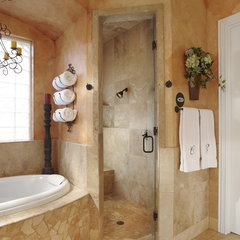 mediterranean bathroom by USI Design & Remodeling