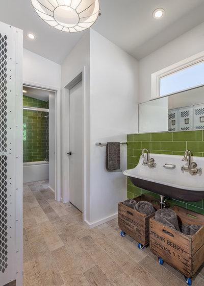 Rustic Bathroom by Amy Emery Interior Design