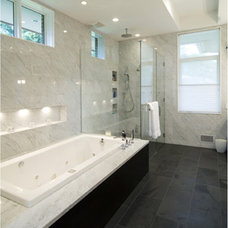 Contemporary Bathroom by kevin akey - azd architects - michigan