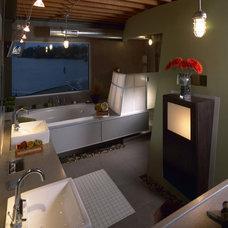 Industrial Bathroom by kevin akey - azd architects - michigan