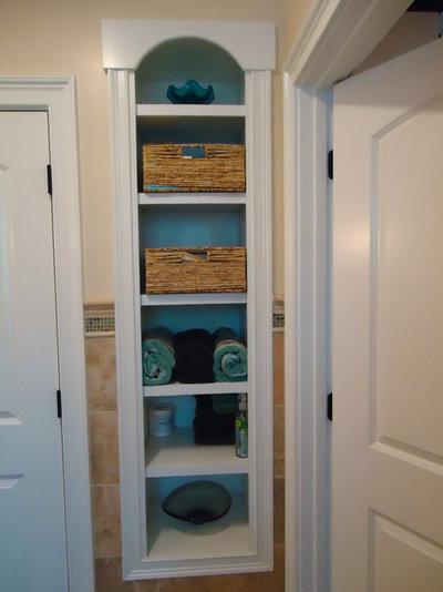recessed bathroom open shelves 2