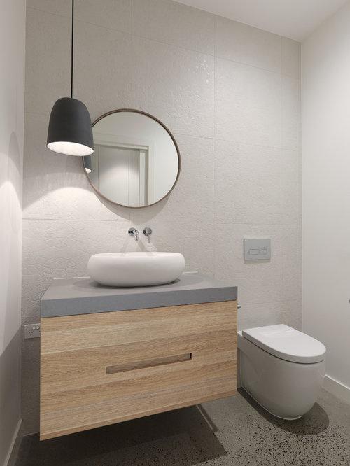 Badezimmer mit eckbadewanne und zementfliesen ideen - Zementfliesen dusche ...
