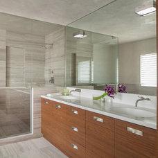 Contemporary Bathroom by Michael Wolk Design Associates