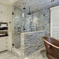 Transitional Bathroom by Jill Frey Kitchen Design