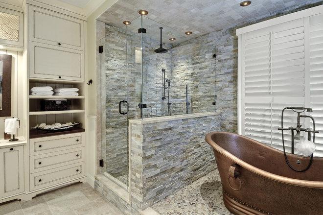 Transitional Bathroom by Jill Frey Kitchen Design