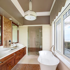 Transitional Bathroom by Denise Balassi, President of Interior Consultants