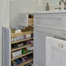 Traditional Bathroom by K & K Custom Cabinets LLC