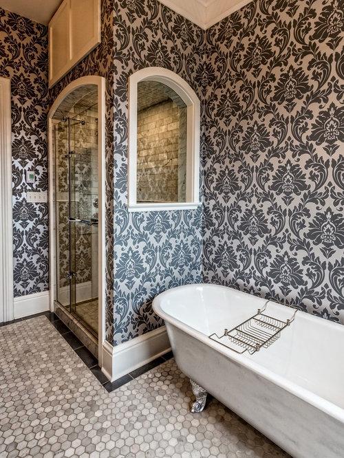 Foto e Idee per Stanze da Bagno - stanza da bagno con top in zinco