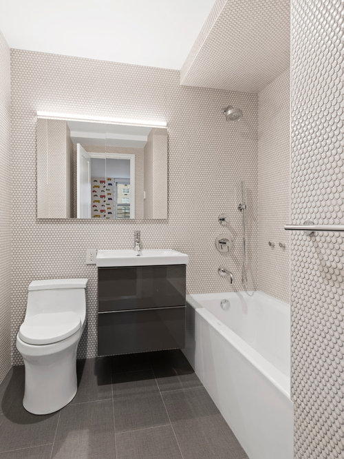 Bathroom design ideas remodels photos with a one piece for 3 piece bathroom remodel