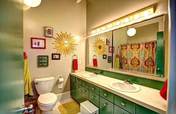 Midcentury Bathroom by Mindi Freng Designs