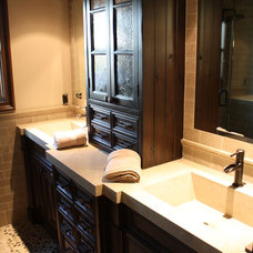 Mediterranean Bathroom by Venture One Design, Inc.