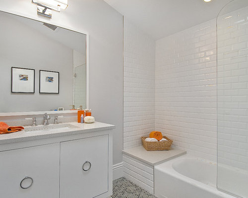 Elegant Bathroom Photo In San Francisco With Subway Tile