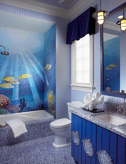 Mediterranean Bathroom by FAVA DESIGN GROUP