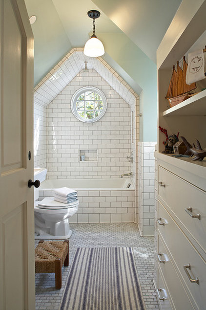 Eclectic Bathroom by Tim Barber LTD Architecture & Interior Design