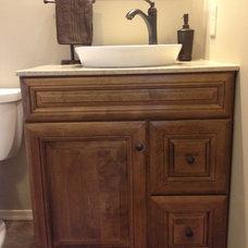Rustic Bathroom by Lowe's of York, Pa