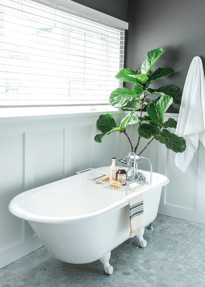 New Traditional Bathroom by Lenore Design