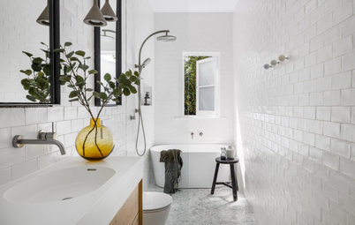 Renovation Education: Cost of a Pretty White Narrow Bathroom Reno