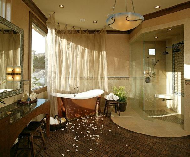 Mediterranean Bathroom by Sun West Custom Homes LLC