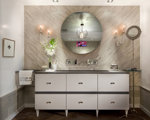 Dark green bathroom design ideas pictures remodel for Dark green bathroom accessories